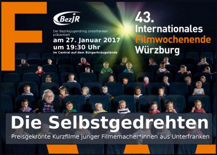 Plakat Die Selbstgedrehten beim 43. internationalem Filmwochenende