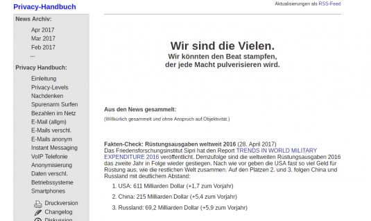 Screenshot der Website privacy-handbuch.de