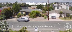 Screenshot der website windowswap: Blick aus einem Fenster in USA